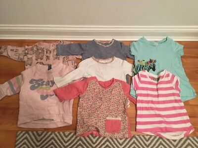 Lovely bundle of baby girls tops from NEXT, Size 3-6 months, good condition!