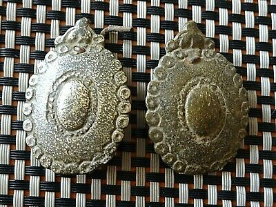 LOT OF 2 ANCIENT BYZANTINE MEDIEVAL BRONZE BELT MOUNTS 9th - 13th CENTURY AD