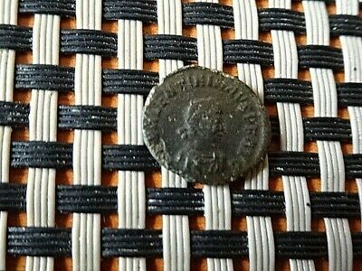 """Valentinian Ii 388-392Ad Ae4 """"Victory Chi-Rho"""" Constantinople Ancient Roman Coin"""