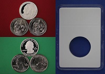 2013 PDS Mount Rushmore Quarters With DIY Slabs From Mint Sets Flat Rate Ship