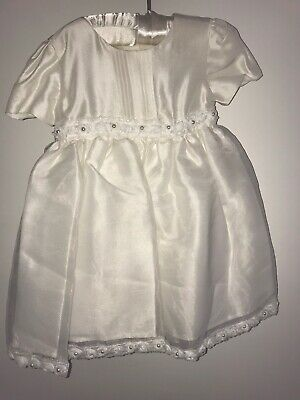 New House of Frazier Heritage Christening Gown dress 100% Cream silk 6-12 mth