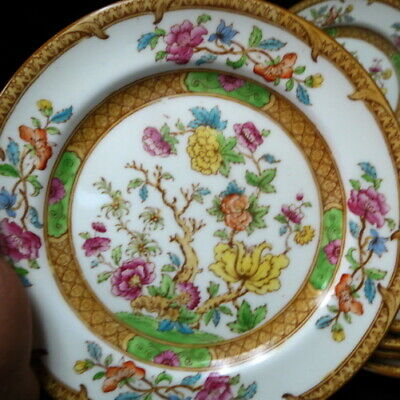 "a lot (6) Cauldon luncheon plates 8 3/4"" Indian Tree / England porcelain / clean"