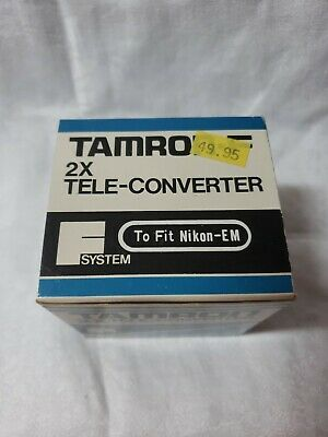 New Old Store Stock Tamron F system 2x Tele Converter Nikon for EM Lens $50