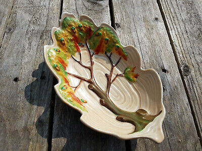Vintage Carlton Ware Oak Tree Dish - Art Deco Excellent Condition