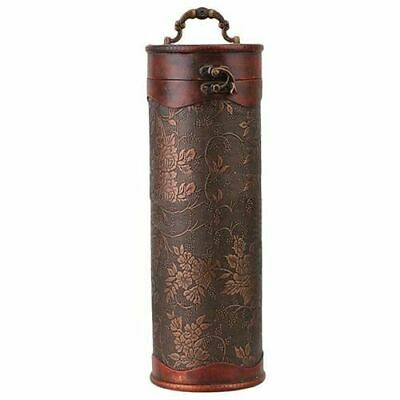 Cylinder Vintage Bottle Retro Wooden Classic Wine Storage Gift Box Case Holder