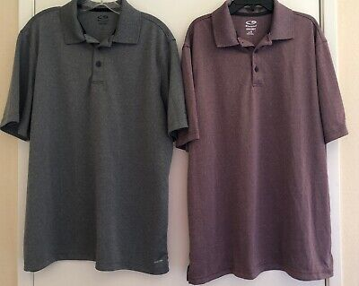 d1b74c3ad3f6 Lot 2 Men Champion Poly Solids Duo-Dry Short Sleeve Athletic Polo Shirts.