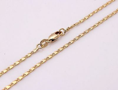 """1.5mm Snail 18k Gold Plated Link chain 18KGP Stamped necklace curb 16-30"""" SNL2G"""