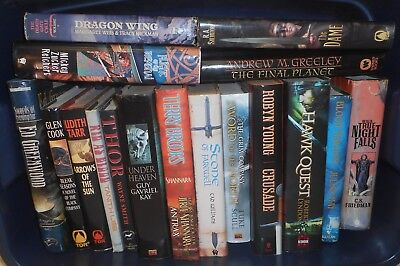 Sci-Fi Science Fiction Fantasy Paperback/Hardback Book Lot x 37 -Various Authors