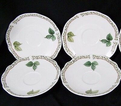 Set of 4 Noritake Primachina 9416 ROYAL ORCHARD Saucers Japan, Excellent!