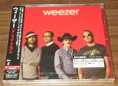 Sealed! WEEZER Japan PROMO issue CD obi RED ALBUM 3 x bonus tracks MORE IN STOCK