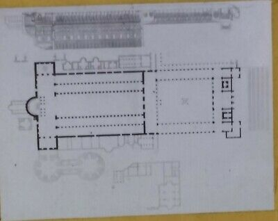 Plan of the Old Basilica, St. Peter's, Rome, Italy, Magic Lantern Glass Slide