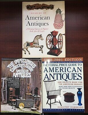 Book Lot American Antiques Collectors Guide