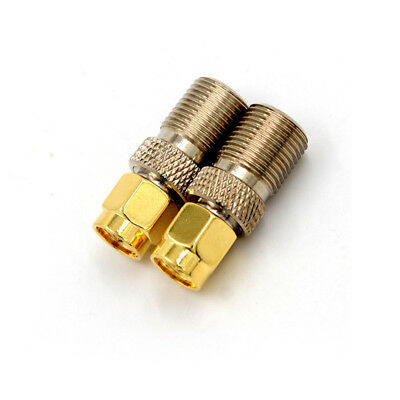 F Female Jack to SMA Male Plug Straight RF Coax Coaxial Connector Adapter OS