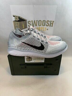 16ef164e5175 Nike Free RN Flyknit 2018 Pure Platinum Men Running Shoes Size 14 942838-003