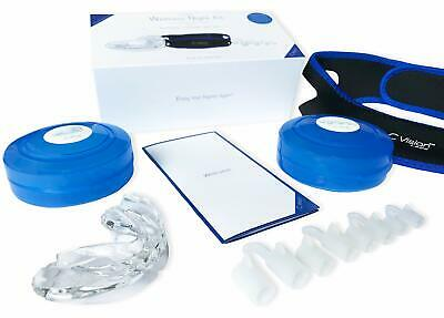 Anti Snoring Devices Sleep Aid Kit: Mouth Guard, Chin Strap, Nose Vents -4 Sizes