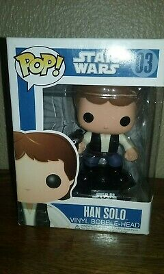 Han Solo 03 Blue Box Edition Pop Funko Vaulted Retired