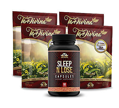TeVida Divina 4 weeks & Sleep and Lose capsules,Loss Weight as You SLEEP