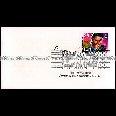 #Cp133 Elvis Presley - Usa Timbre Premier Jour Stamp First Day / Memphis 1993