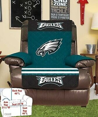 Philadelphia Eagles NFL Recliner Chair Cover Football Team Man Cave Home Decor