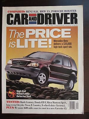 APRIL 1997 CAR and Driver SLK BMW Z3 Boxster Buick Chevy Express LS