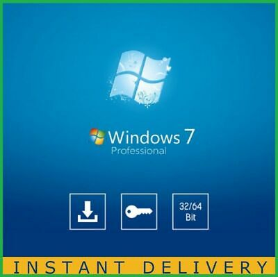 Activation Windows 7 Pro Edition 64/32 bit Genuine key Lifetime license Instant;