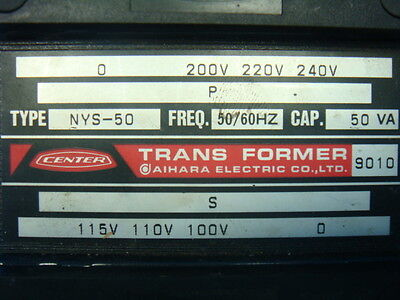 Aihara Electric Center Transformer NYS-50 Used