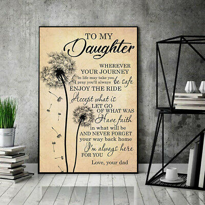 Dandelion Dad To My Daughter I'm Always Here For You Portrait Poster No Frame