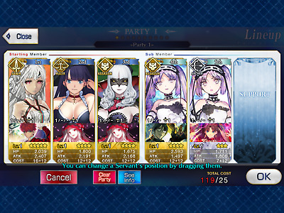 NA FGO / Fate Grand Order Starter Account Altera (Attila) + 611 SQ