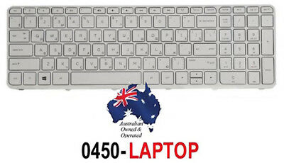 Keyboard for HP Pavilion TouchSmart 15-N205AX F6C63PA Laptop Notebook WHITE