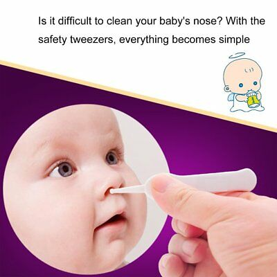 Safe Cleaning Tweezers Baby Care Forceps Plastic Newborn Digging Nose Clip OA