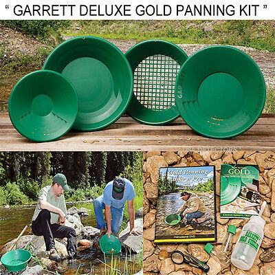 Garrett Deluxe Prospecting Mining Gravity Trap Gold Pan Kit With DVD P/N:1651410
