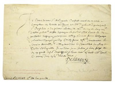 "Louis XIII / Autograph manuscript document signed ""De la Garde"" 1632"