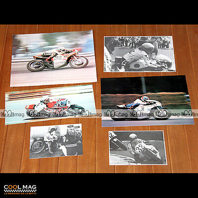 ★ STEBE BAKER ★ Pilote Moto - Photos 1975-1977 Clipping Pictures Magazine #DC43