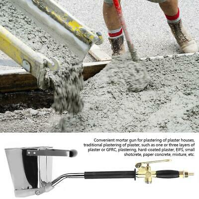 4 Holes Wall Cement Mortar Shovel Hooper Concrete Plaster Tool Air Sprayer Gun
