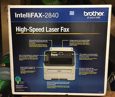 Brother Intelli Fax-2840 High-Speed Laser Machine 29 Page Print Count