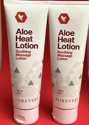 2 X Forever Living Aloe Heat Lotion TWO TUBES  **FREE ** DELIVERY**