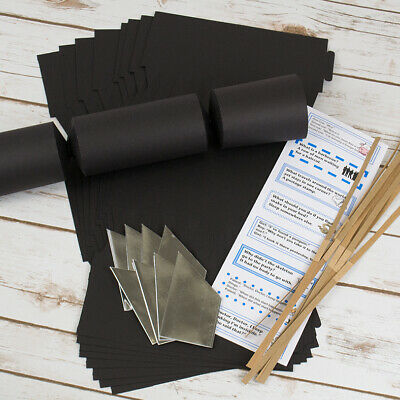 Black Jumbo Make & Fill Your Own Cracker Making Craft Kits & Boards