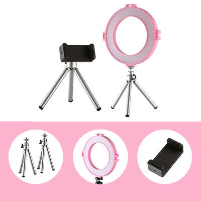LED Ring Light Dimmable Photography Studio Video Lamp&2 Tripod with Phone Clamp