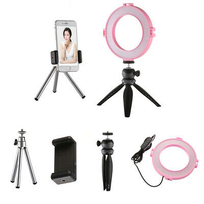 NEW Live Stream LED Ring Light Photo Studio Video Lamp 2Tripods&Cell Phone Clamp