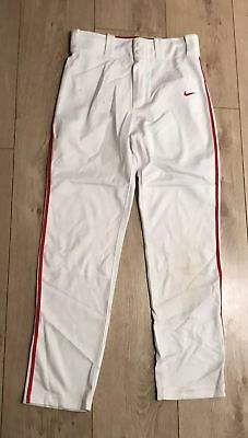 Nike Swingman Girls W26 Large Golf Trousers White Polyester 26L Marks