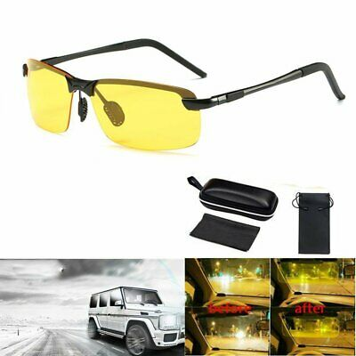 Tinted Unisex Night Driving Glasses HD Anti Glare Vision Prevention  Yellow Lens