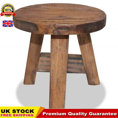 Handmade Stool Solid Reclaimed Wood Round Wooden Stools Part Suite UK Home Chair