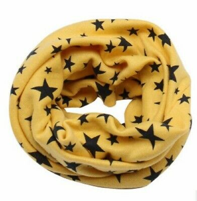 Baby Boys Girls Kids Long Warm Stars Printed Snood Outdoor Neck Warmer Scarf