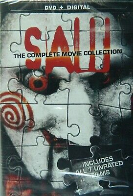 SAW The COMPLETE MOVIE COLLECTION All 7 Unrated SAW Movies 4-Disc DVD Set SEALED
