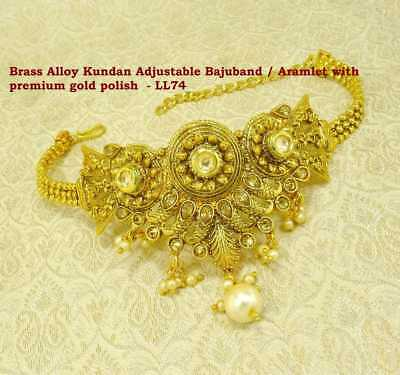 Engagement & Wedding Shop For Cheap Traditional Kundan Armlet Upper Arm Bracelet Gold Plated Armband Jewelry Arm770a