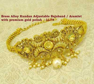 Jewelry & Watches Shop For Cheap Traditional Kundan Armlet Upper Arm Bracelet Gold Plated Armband Jewelry Arm770a