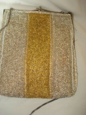 Gorgeous Deco Beaded Bag Delill Hand Made Japan