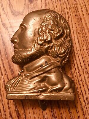 Solid brass Shakespeare door knocker vintage
