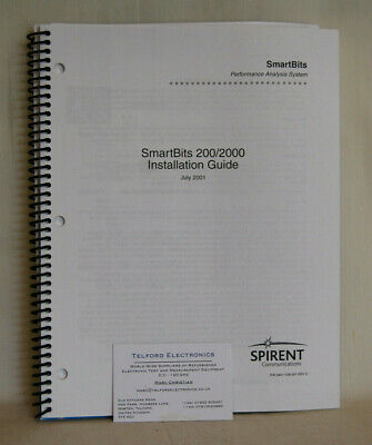 Spirent Commucations. SmartBits 200/2000 Installation Guide