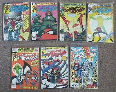 Amazing Spiderman issue 231-237 (1982-83) x7 issues